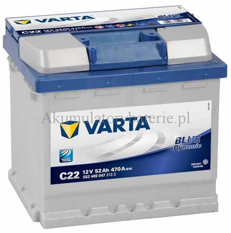 VARTA Blue Dynamic 12V 52Ah 470A C22