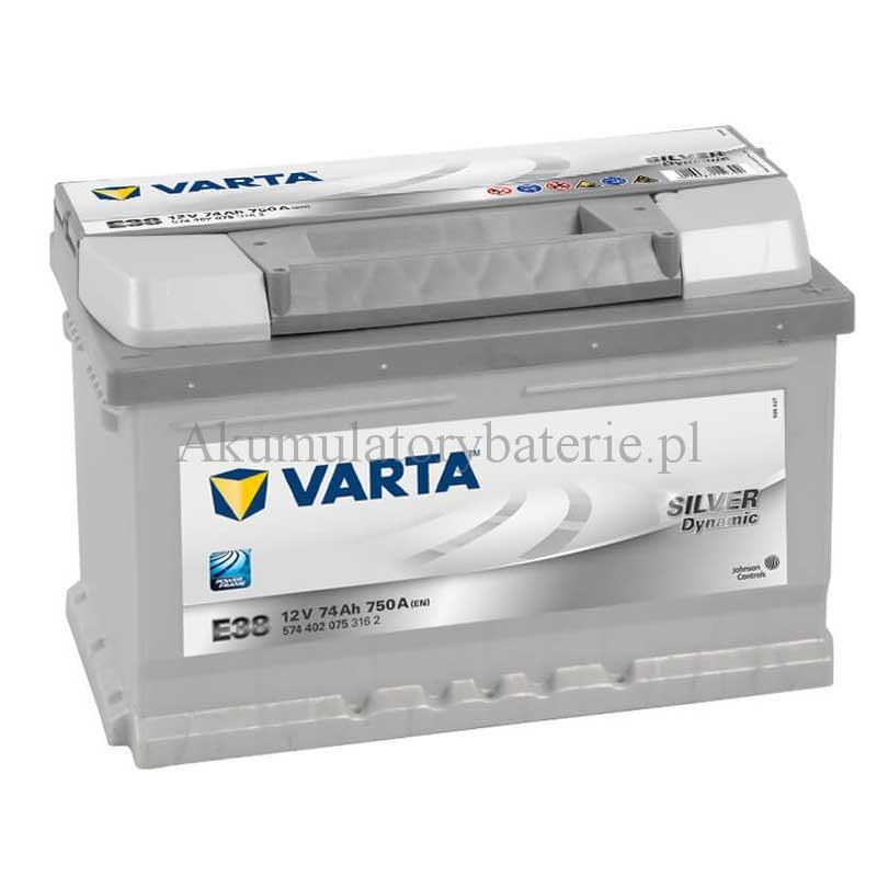 VARTA Silver Dynamic 12V 74Ah 750A E38